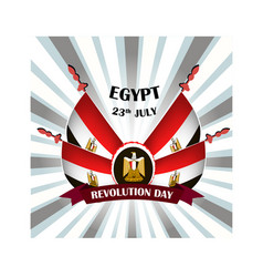 egypt revolution day with national vector image