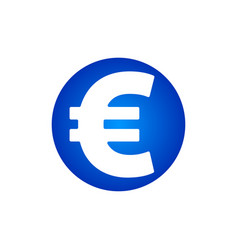 euro sign con vector image