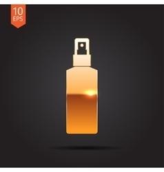 flat bottle vector image