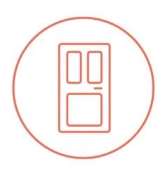Front door line icon vector