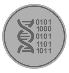 Genome silver coin vector