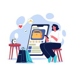 girl online shopping vector image
