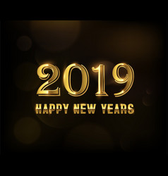 golden number new year 2019 templates vector image