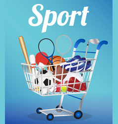 group sport in a cart vector image