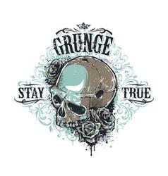 Grunge skull print 3 vector