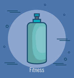 Gym bottle isolated icon vector