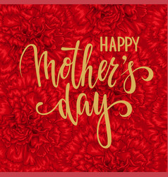 happy mother day hand drawn brush pen lettering vector image