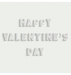 Happy valentines day white stylish card design vector