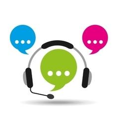 headphones bubble speech service vector image