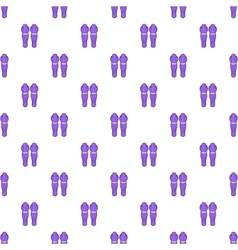 Hockey knee pads pattern cartoon style vector image