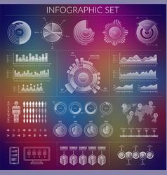 Hud infographics user interface set ui elements vector