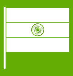indian flag icon green vector image
