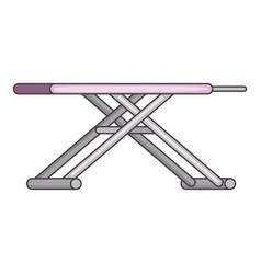 Ironing board icon cartoon style vector
