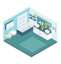 Isometric Bathroom Composition vector