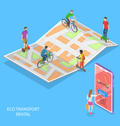 isometric flat concept city eco vector image