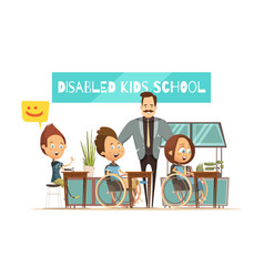 learning of disabled kids vector image