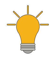 Light bulb idea icon vector