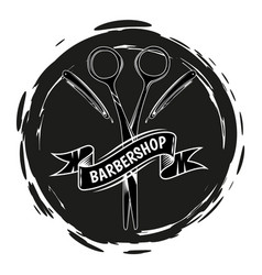 logotype for barbershop vintage style barber shop vector image