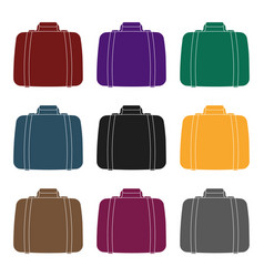 luggage icon in black style isolated on white vector image