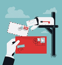 Mailbox and Letters Icon vector image