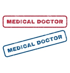 Medical Doctor Rubber Stamps vector
