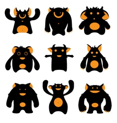 Monsters silhouettes vector
