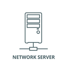 network server line icon linear concept vector image