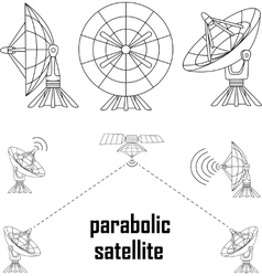 parabolic sattelit vector image