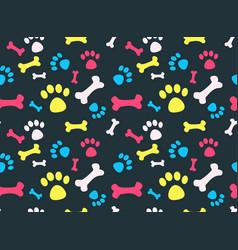 pet footprints pattern vector image