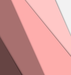 Pink overlap layer paper material design vector