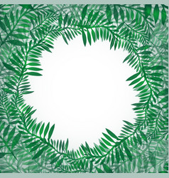 postcard from green branches frame of fern vector image