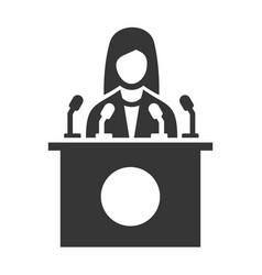 Public speaker icon on white background vector