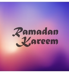 Ramadan Kareem icon on blurred background vector image