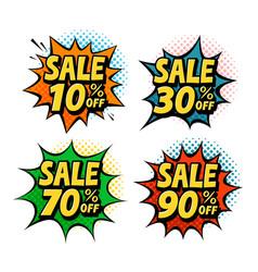 sale discount label special offer symbol pop vector image