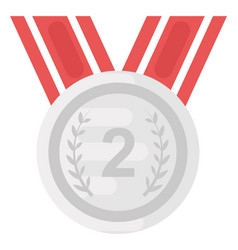 Second place medal vector