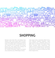 shopping line design template vector image