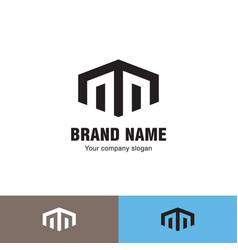 Simple line house logo vector