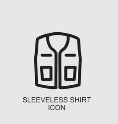 Sleeveless shirt icon vector