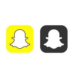 snapchat icons set logo snapchat mobile vector image