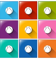 Square buttons with balls vector image