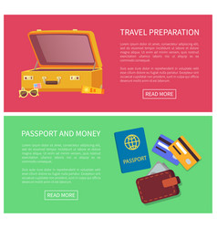 travel planning web page set vector image