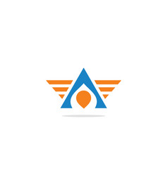 triangle wing abstract logo vector image