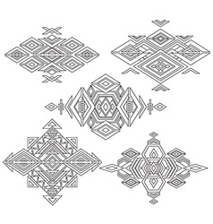 Tribal element patterns on white background vector image