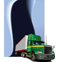 Truck background vector