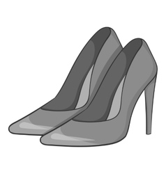 Women high heeled shoes icon vector