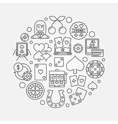 Casino gambling round vector image vector image