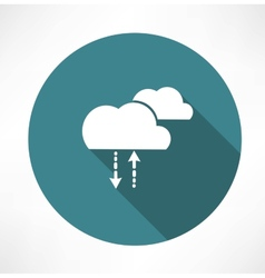 Cycle of precipitation icon vector