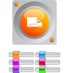 Delivery color round button vector image vector image