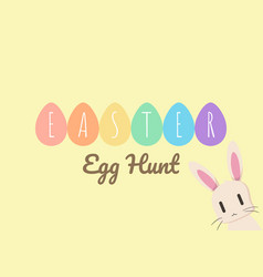 happy easter greeting card with bunny and easter e vector image