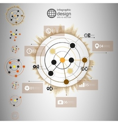 Set of Abstract network with circles infographic vector image